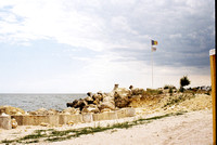 Beach restaurant south of Constanta harbor